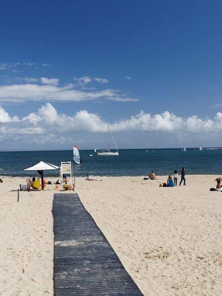 Beach with boardwalk