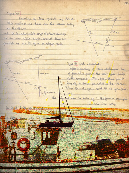 Boats with navigation notes