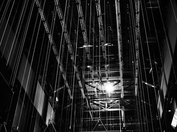 Stark overhead lights