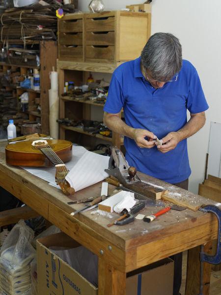 Repairing guitars, Lisbon