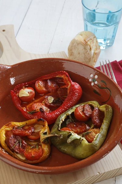 Peppers with chorrizo