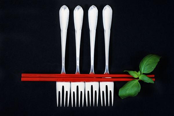 Chopsticks with forks
