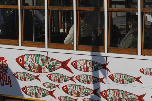 Tram with sardines