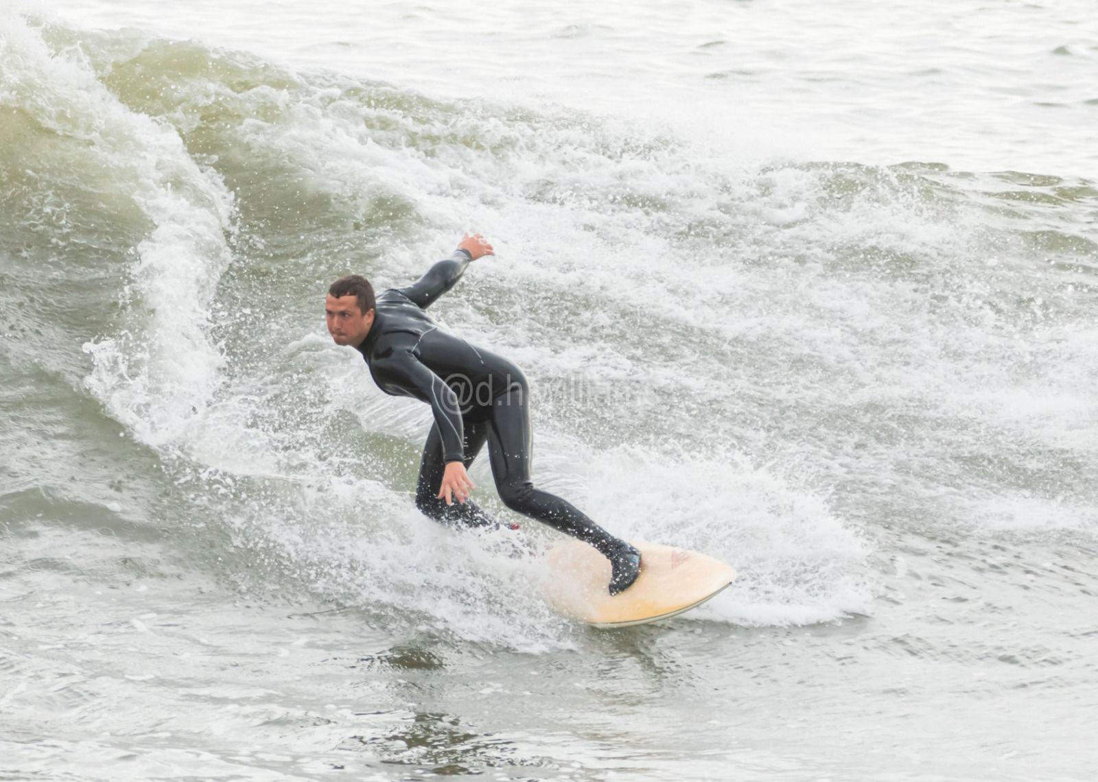 Surfers at Aberavon Beach
