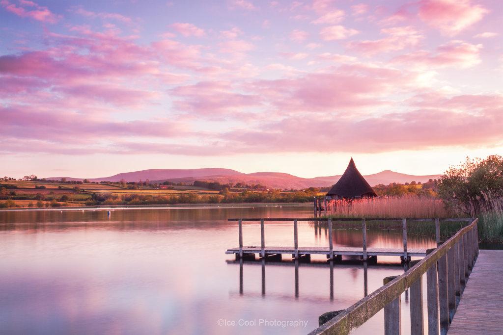 LLangores Lake the Golden Hour