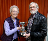 "Malcolm Imhoff receives the Caroline Trophy, Overall Winner, for ""Love Will Remain"""