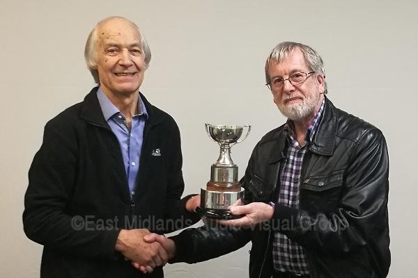 John Gibbs FACI presents the Caroline Trophy to Malcolm Imhoff