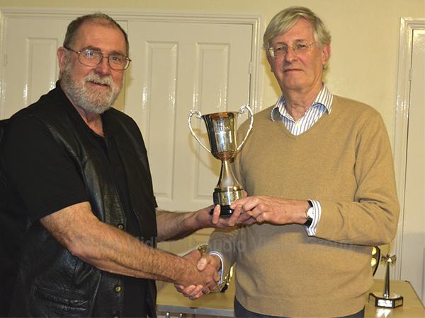 Brian receiving the Ken Abbott Trophy