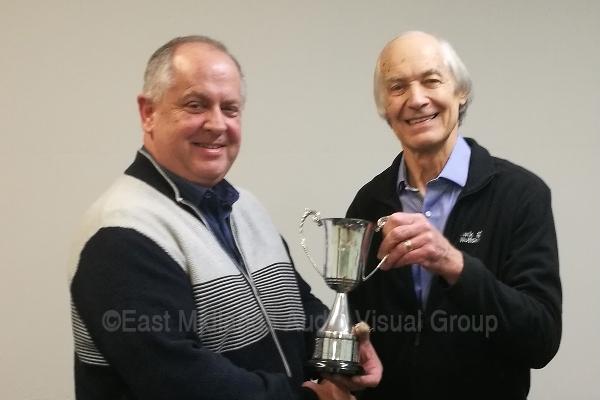 John Gibbs FACI presents the Elston Trophy to Keith Watson LRPS CPAGB