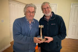 Ashley Franklin presents the Ken Abbott Trophy to Malcolm