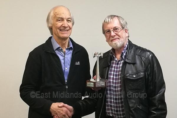 Malcolm receives the Ken Abbott Trophy
