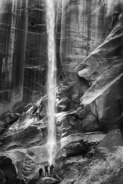 Vernal Falls and Three Photographers