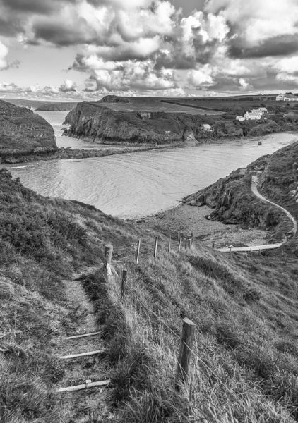 View over Abercastle Bay, Pembrokeshire, Wales