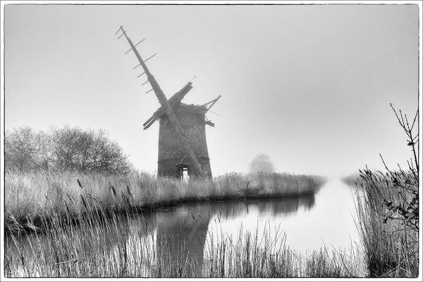 Norfolk Broads in Fog