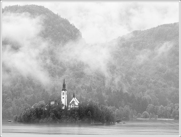 Rain at Lake Bled
