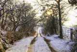 Snow on the bog road. Glangevlin. Co. Cavan