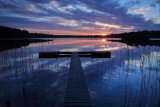 Sunset Castlefore Lake. Fenagh Co. Leitrim