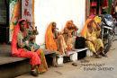 Tired Ladies. Pushkar. India