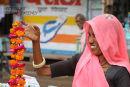 Flower  seller  . Amber. Rajistan. India