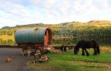 Gypsy  Caravan  at  Glencar Lake. Co. Leitrim