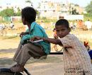 On the crossbar. Khajuraho. India