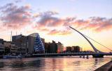 Samuel Beckett Bridge and The Convention Centre. Dublin