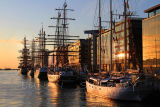 Tall Ships at Dawn Dublin.