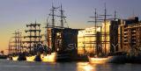 Tall Ships at First Light. Dublin 2012