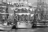 Tall Ships Dublin B&W