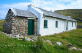 Traditional whitewash and thatch cottage. Donegal. Ireland