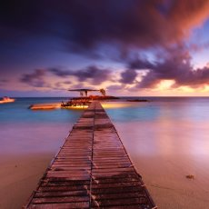 BOAT JETTY SUNRISE