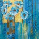 "Eileen McGeown ""Rhapsody in Blue"" Acrylic Blues and gold"