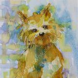 "Eileen McGeown watercolour ""Take me Home"" Cairn Terrier puppy dog"
