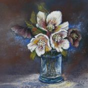 Christmas Roses in a Vase