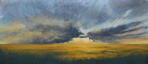 Dramatic Sky Over Farmland