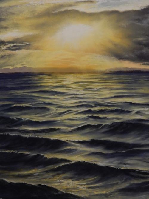 Sunlight Over a Silky Sea