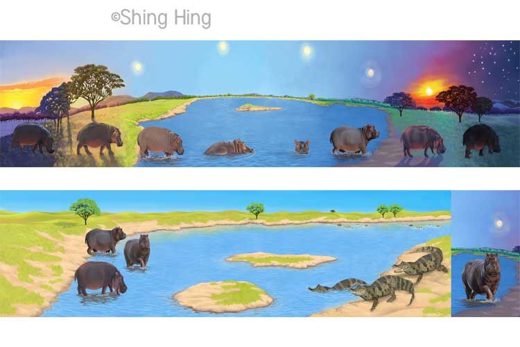 Hippo and Crocodile Book 1 Shing Hing Commission
