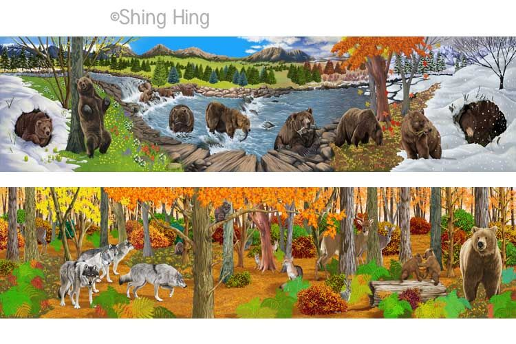 Brown Bear and Wolf Book 5 Shing Hing Commission