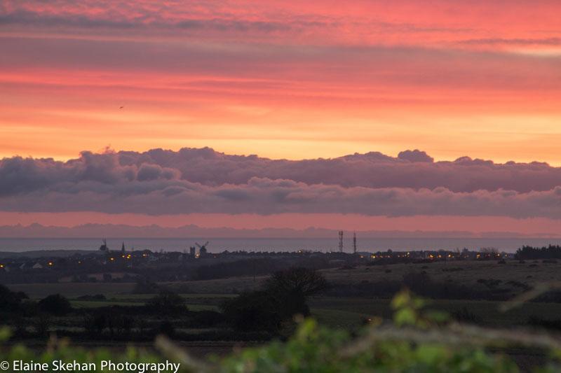 Dawn breaks over Skerries