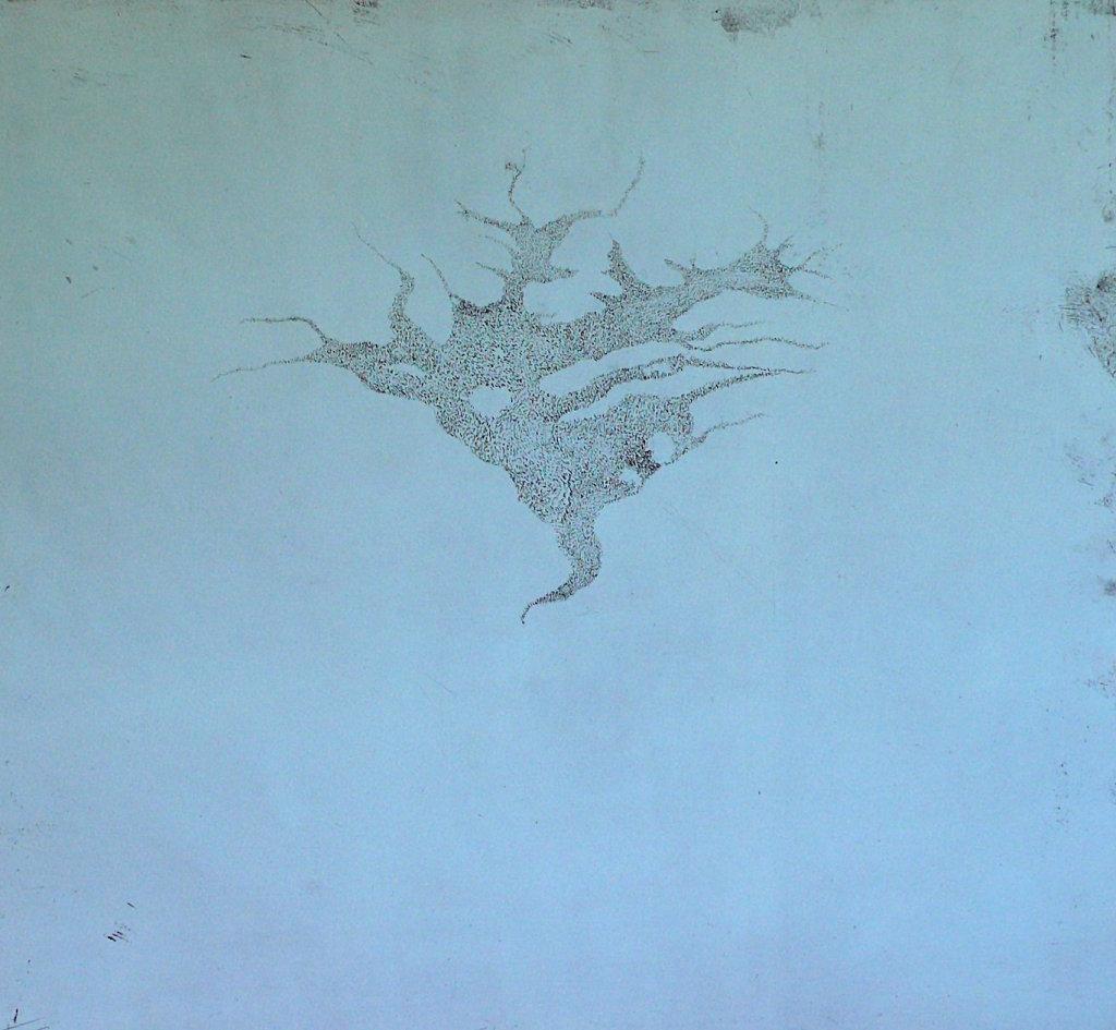 Apertio III<br>Etching, edt 15 <br>54 x 60 cm, 2015