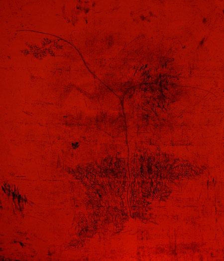 Ex nihilo <br> Etching, edt 15 <br> 55 x 60 cm, 2008