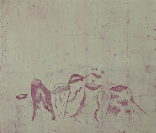 Liminality <br> Etching, edt 20 <br> 38 x 44 cm, 2011