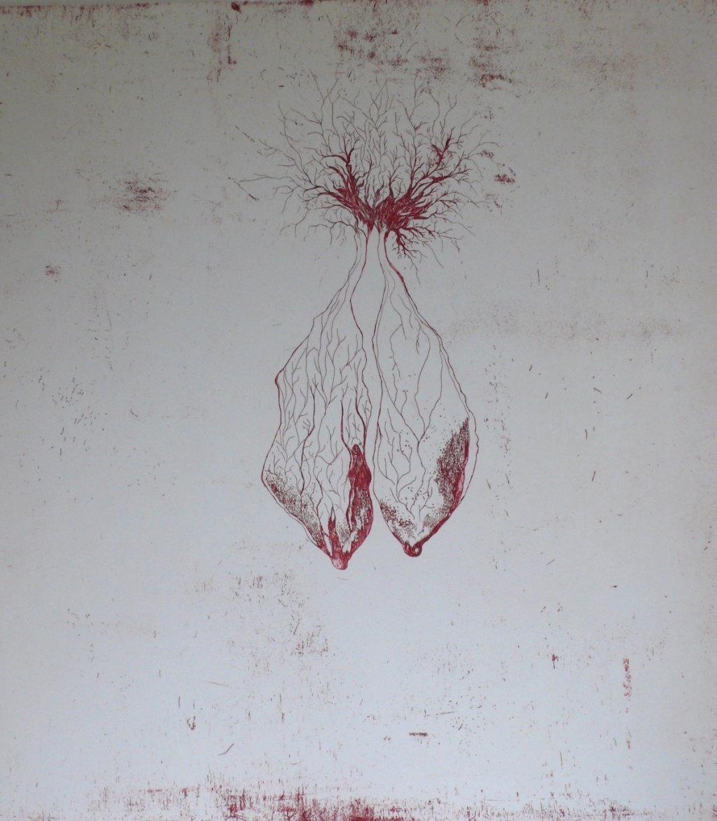 Pulmonem<br>Etching, edt 15 <br>60 x 54 cm, 2016