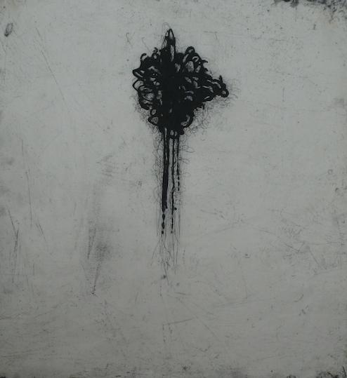 Satoris III <br> Etching, edt 10 <br> 60 x 54 cm, 2013