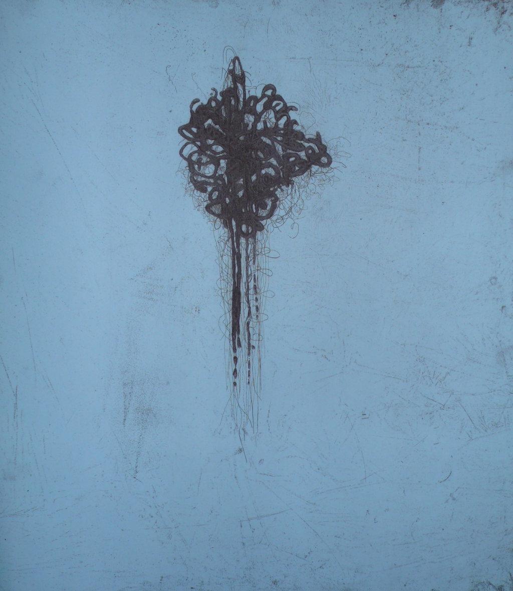 Satoris II<br> Etching, edt 10 <br> 60 x 54 cm, 2013