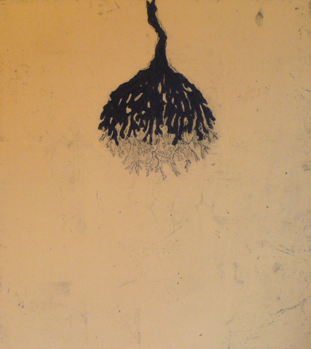 Silva II<br>Etching and carborundum, edt 15 <br>60 x 54 cm, 2015