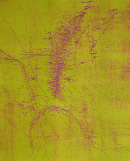 Gestation <br> Etching, edt 6 <br> 55 x 60 cm, 2007