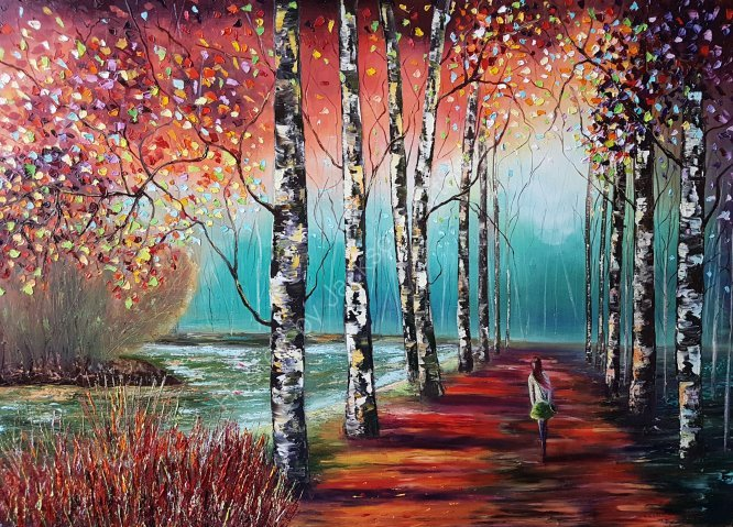 Autumn walk SOLD