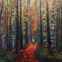 Autumn woodwalk in Perthshire SOLD