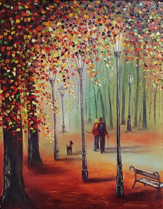 Autumn woodwalk SOLD